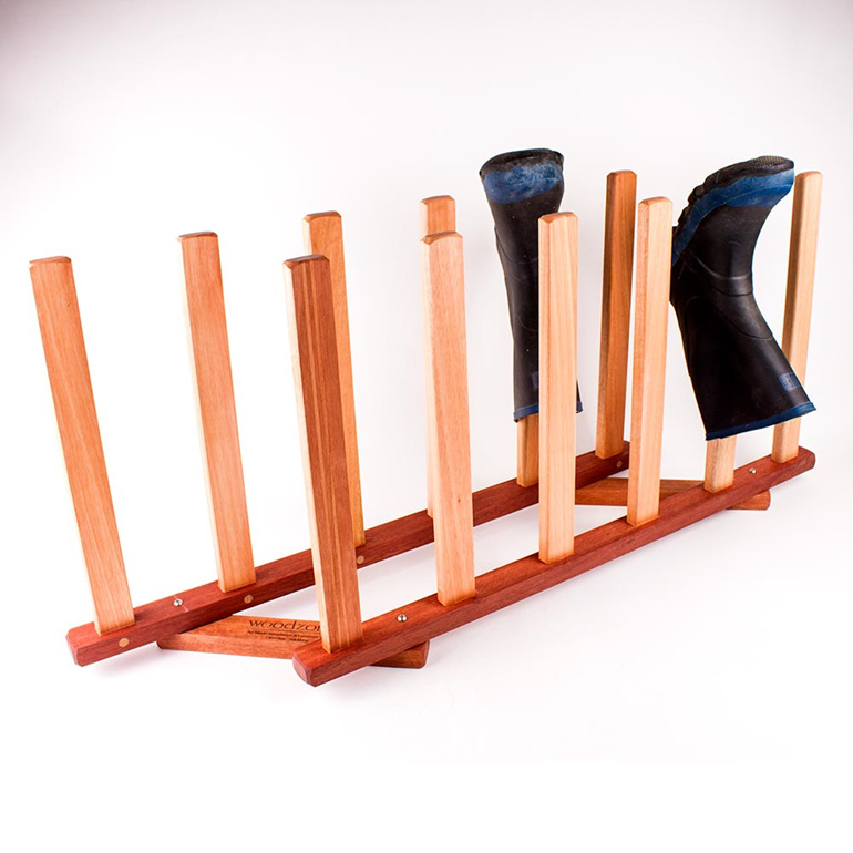 gumboot rack 6 pairs - made in nz