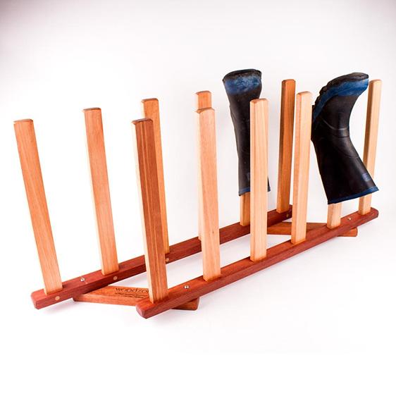 gumboot rack 6 pairs - made in nz