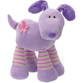 Gund Giggling Girls - Purple Dog