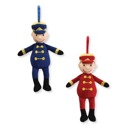 Gund - Toy Soldier Musical Xmas Tree Decoration Blue