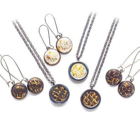 Gunmetal Solid Set necklace