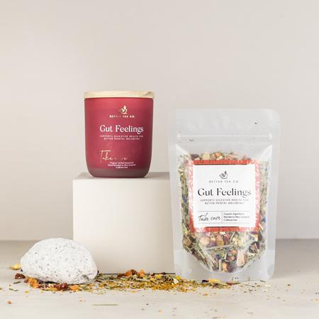 Gut Feelings Glass Jar with Tea - Large