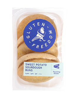 Guten Freedom Sourdough Buns Sweet Potato 3pk