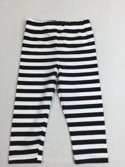 Gymboree black and white stripped cotton legging