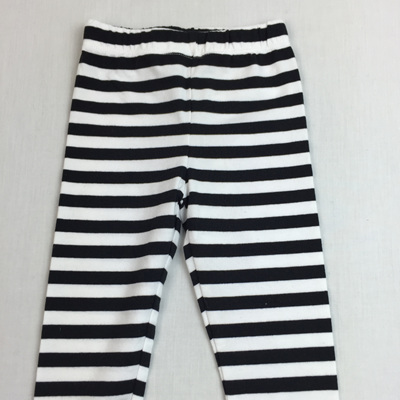 Gymboree black and white stripped cotton legging