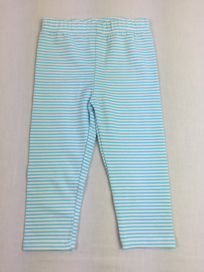 Gymboree duck egg and white stripped cotton legging