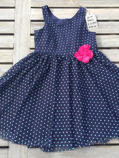 H & M  Navy spot dress dress