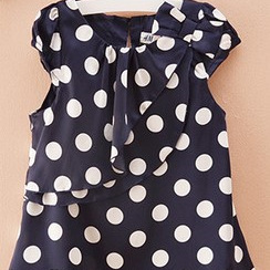 H & M Summer top Navy with white spots