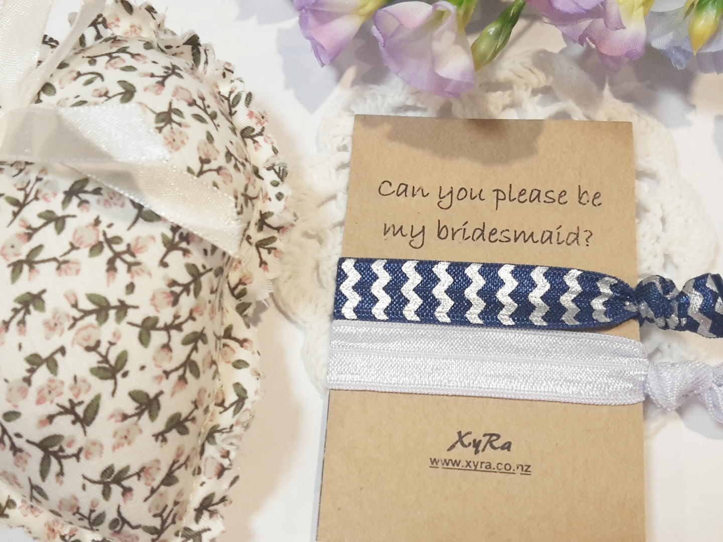 Looking for bridesmaids - you can do it with our hair ties with personalized message.