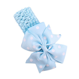 Hairband with Spotted Bow - LIGHT BLUE