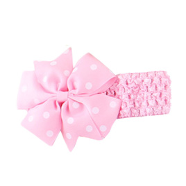 Hairband with Spotted Bow - LIGHT PINK