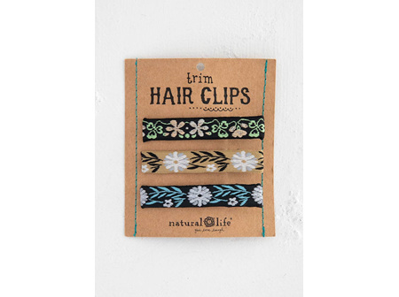 Hairclips Set-Black Trim