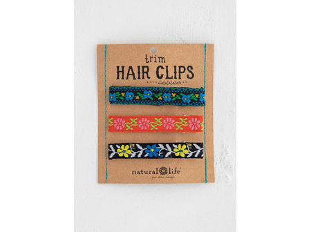 Hairclips Set-Blue Trim