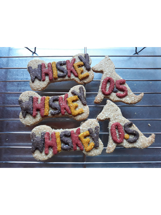 Half birthday cookies for Whiskey dog