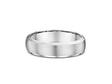 Half Round Bevelled Mens Wedding Ring