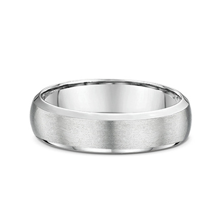 Half Round Bevelled Mens Wedding Ring