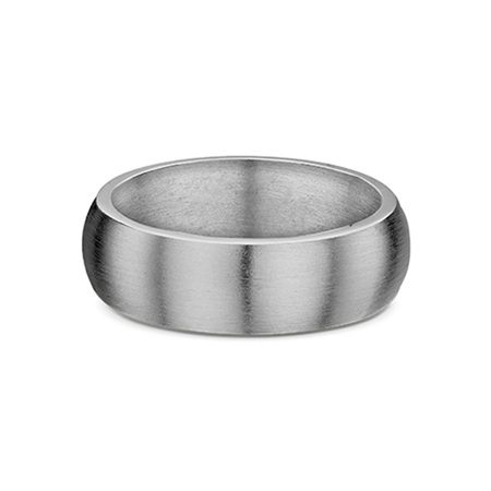 Half Round Profile Mens Wedding Ring