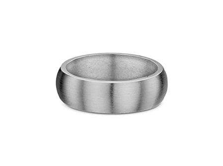 Half Round Profile Mens Wedding Ring