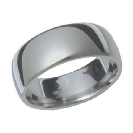 Half Round Titanium Ring