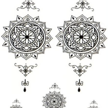Half Sleeve Temporary Tattoo Sticker 21cmX15cm