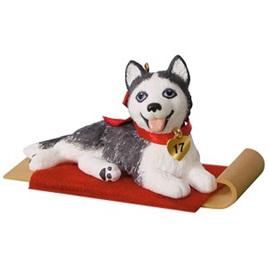 Hallmark keepsake - puppy love - husky