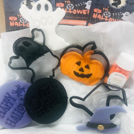 HALLOWEEN COOKIE EMBOSSED STAMP SET   (free gift with set)
