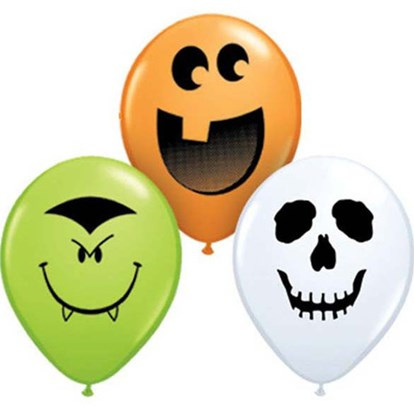 Halloween faces Assorted 12cm balloons