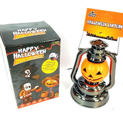 Halloween Lantern Orange Pumpkin 17cm