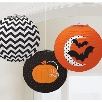 Halloween Paper Lanterns x 3