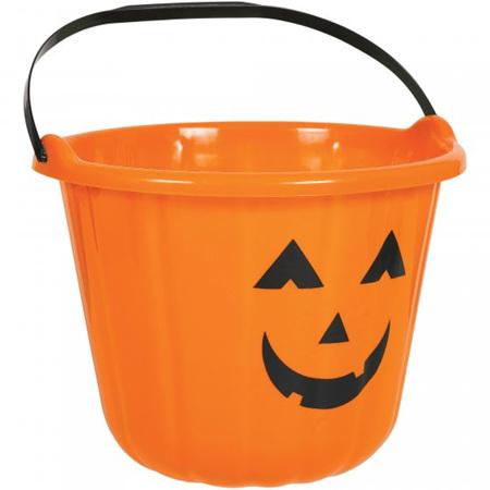 Halloween plastic buckets - pink or orange - price per 1
