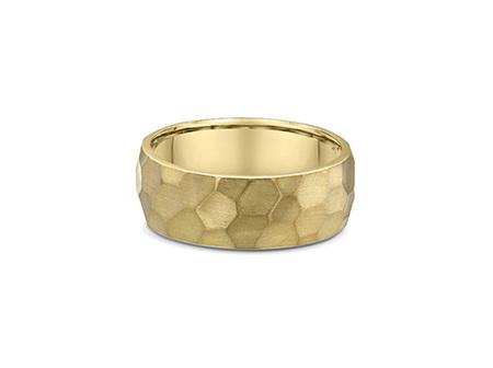 Hammered Finish Mens Wedding Ring
