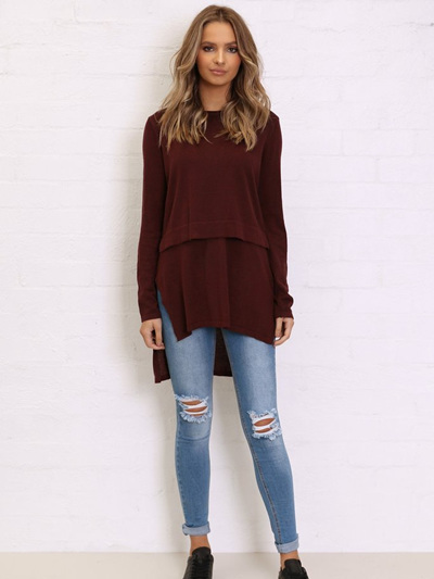 Hana Overlay Knit Top