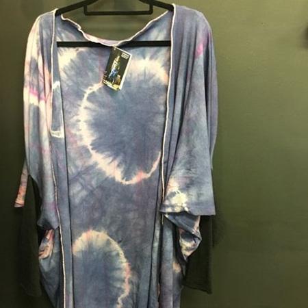 Hand Dyed Merino Cardi Kimono