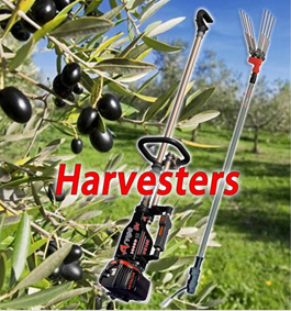 Hand held olive harvesters