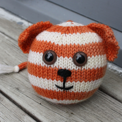 Hand Knitted Ball - Cat