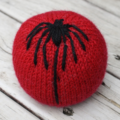 Hand Knitted Ball - Spider