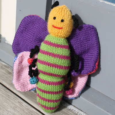 Hand Knitted Butterfly
