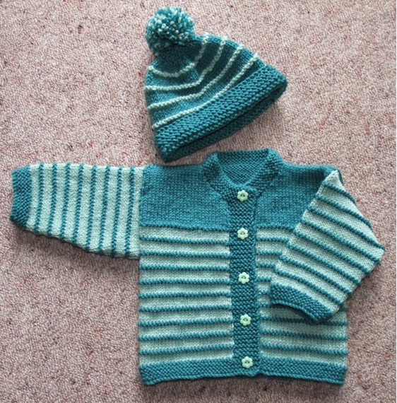 Hand Knitted Cardigan Set
