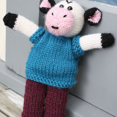 Hand Knitted Cow