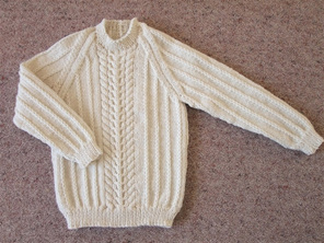 Hand Knitted Jumper - Natural