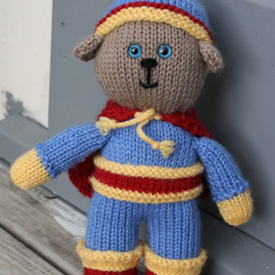 Hand Knitted Super Hero