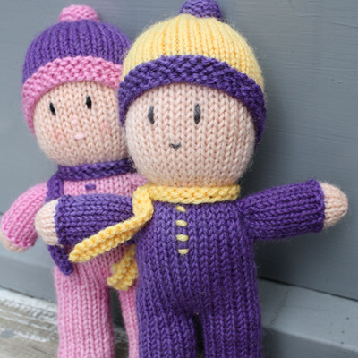 Hand Knitted Twins