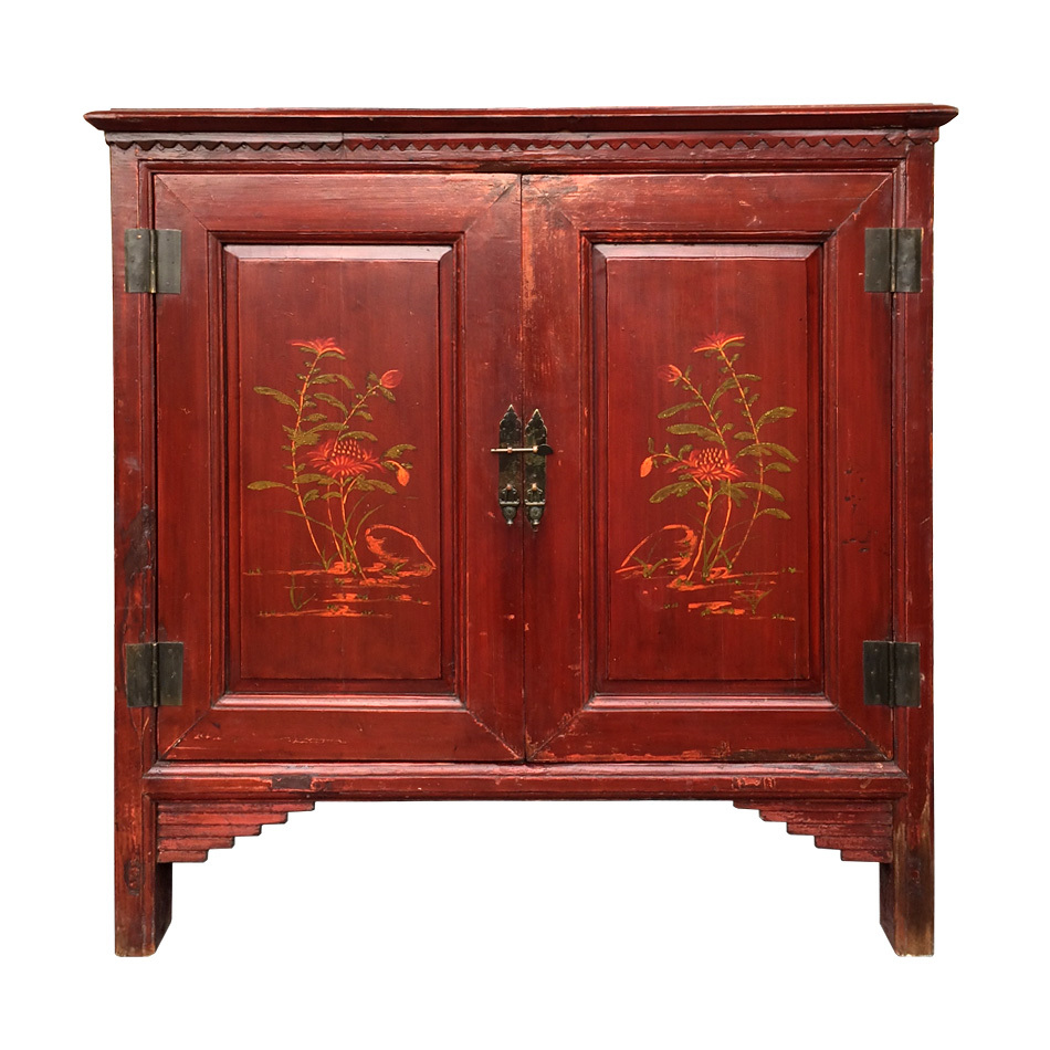 Hand painted antique chinese cabinet medium cabinet for Chinese furniture
