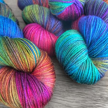 Hand painted yarn