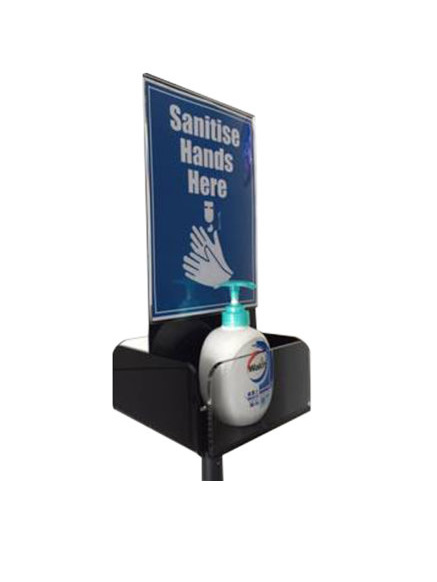 Hand Sanitiser Stand with A4 Sign Holder