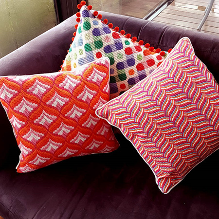 hand stitched cushions