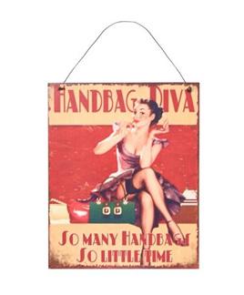 Handbag Diva - Metal Plaque