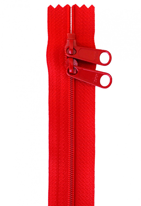 "Handbag Zipper 30"" with Double Pull in Multiple Colours"