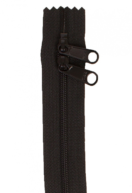 Handbag Zipper 40' with Double Pull in Neutral Colours