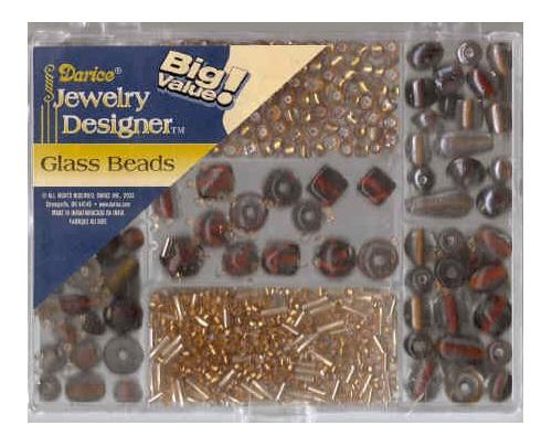 Handblown Glass Beads Pack - Topaz  (DR1973.50)